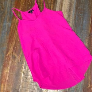 Women's neon pink limited tank top